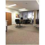 custo para carpete de rolo para escritório Cambuci