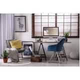 persiana horizontal de madeira com fita