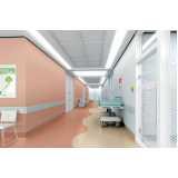piso vinílico hospitalar em manta sob medida Poá